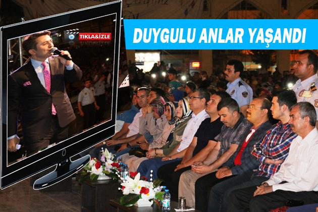 Abdurrahman Önül Urfa'da konser verdi