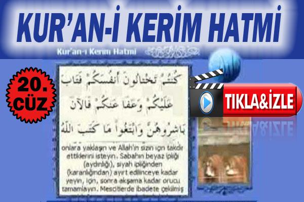 Kur'ân-ı Kerim 20.Cüz, OKU DİNLE