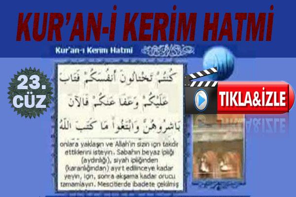Kur'ân-ı Kerim 23.Cüz, OKU DİNLE