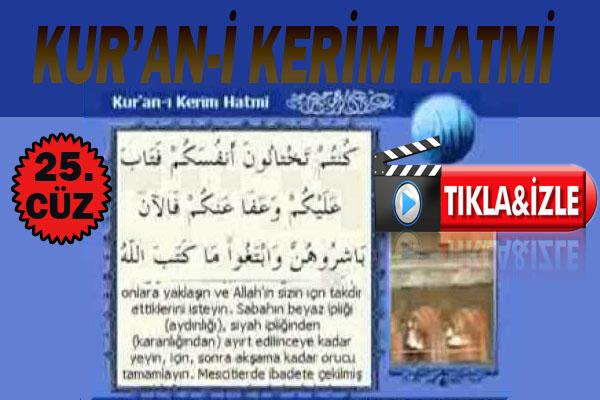 Kur'ân-ı Kerim 25.Cüz, OKU DİNLE