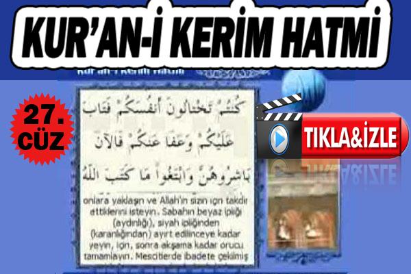 Kur'ân-ı Kerim 27. Cüz, OKU DİNLE