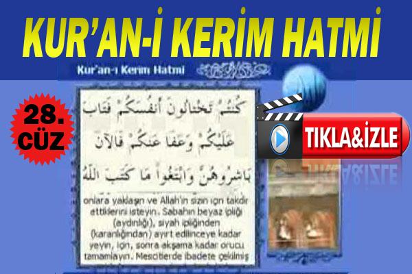 Kur'ân-ı Kerim 28. Cüz, OKU DİNLE