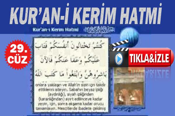 Kur'ân-ı Kerim 29. Cüz, OKU DİNLE