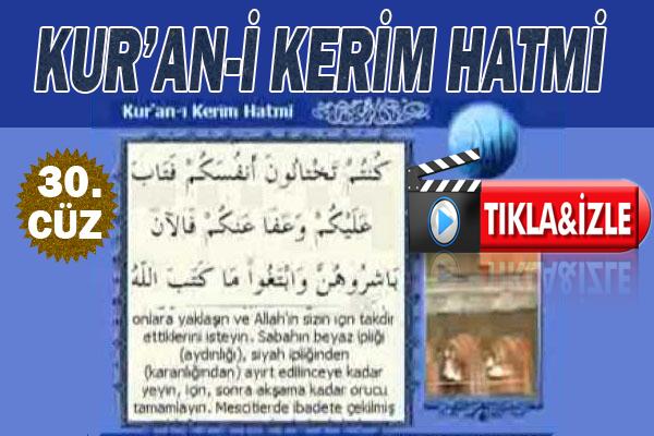 Kur'ân-ı Kerim 30. Cüz, OKU DİNLE
