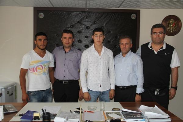 Şampiyonlardan Murat Önene ziyaret