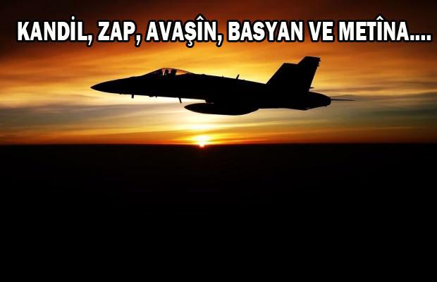 JET'ler PKK kamplarını bombalıyor