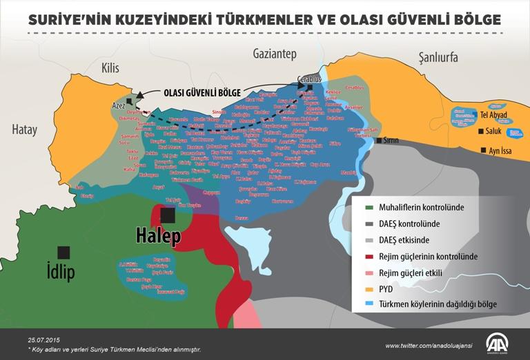 Türkmen varlığı da güvenli bölgeye bağlı