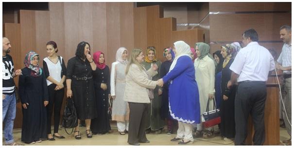 Aylin Vali, Kadın Kültür Merkezi temsilcileri ile vedalaştı