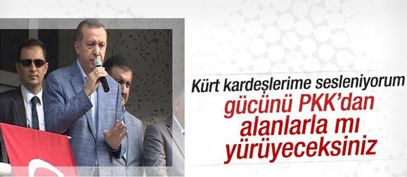 Cumhurbaşkanı Erdoğan: Kürt kardeşlerime sesleniyorum