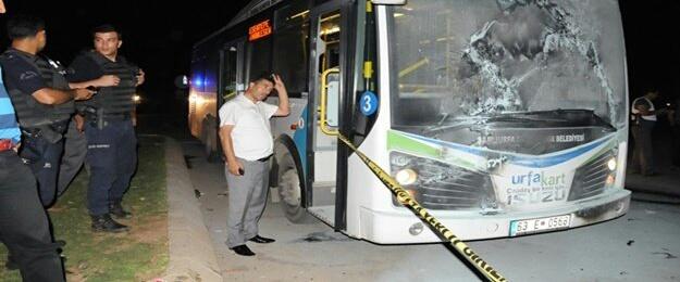Urfa'da Yolcu Otobüsüne Molotof Attılar