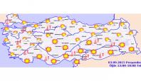 3 Eylül 2015 Türkiye genelinde hava durumu