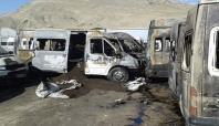 İran'da Ağrı'ya ait 11 araç yandı