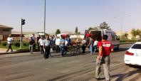 Suriyeli kadına otomobil çarptı