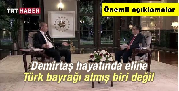 Erdoğan'dan canlı yayında konuştu