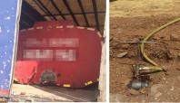 Hırsızlar 5 ton akaryakıt çalmaya kalkıştılar
