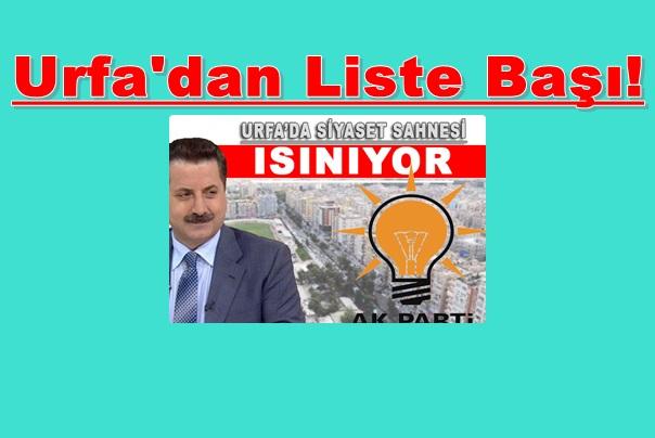 Faruk Çelik Urfa'da Liste Başı!