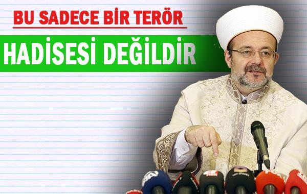 Görmez, 'Kürt kardeşlerimizi İslam'dan koparma teşebbüsüdür'