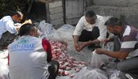İHO EBRAR Konya'da kurban eti dağıttı