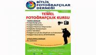 Bitlis'te 2'inci Dönem Temel Fotoğrafçılık Kursu açılıyor