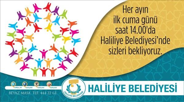 """HALİLİYE'DE """"HALK GÜNܔ YARIN"""
