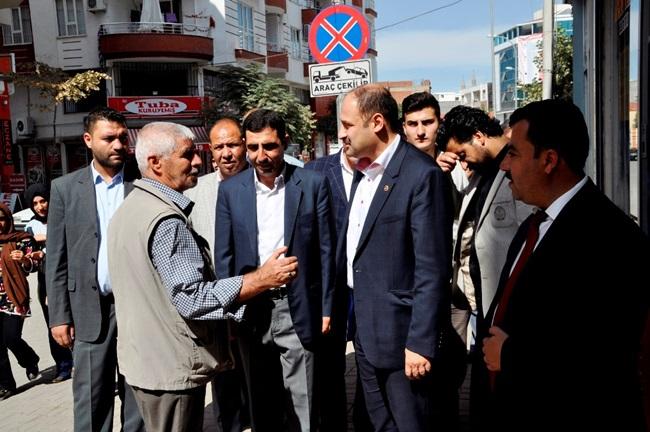 Kasım Gülpınar'dan Siverek'te Esnafı ziyareti etti