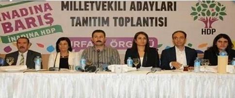 HDP Urfa Vekil adaylarını tanıttı