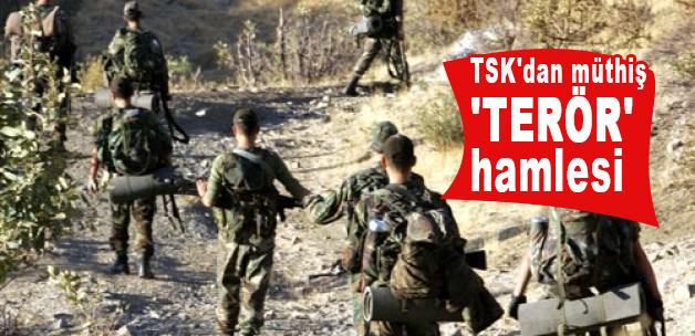 Türk Silahlı Kuvvetlerinden müthiş terör hamlesi
