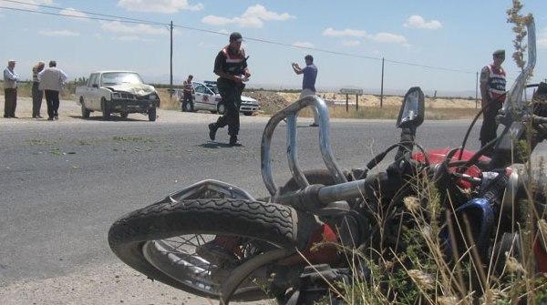 Siverekte Motosikletle kaza 2 ölü