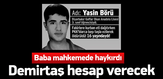 Yasin Börü dava duruşması 25 Kasım'a ertelendi