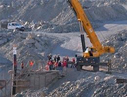 Şilide madencilere 110 metre kaldı