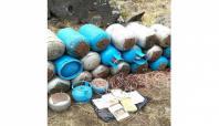 Ağrı Dağı'nda 2 ton patlayıcı bulundu