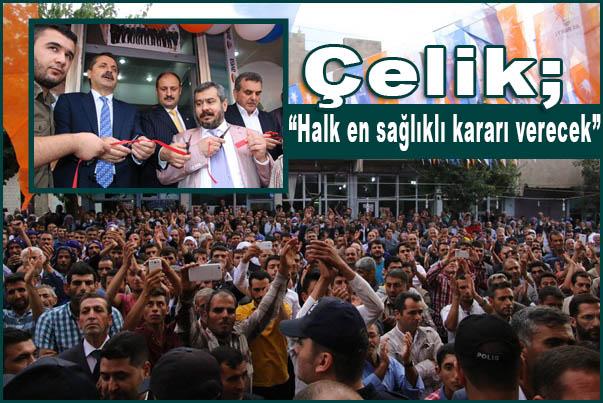 Fatih Bucak AK Parti İçin Seçim Bürosu Açtı