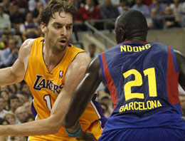 Barcelona L.A Lakers mağlup etti