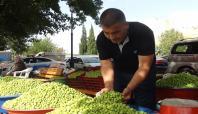 Gaziantep'te yeşil zeytin tezgâhlardaki yerini aldı