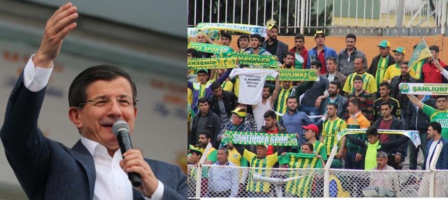 Başbakan Davutoğlu'ndan Şanlıurfaspor taraftarına müjde