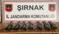 Şırnak'ta uzun namlulu silahlar ele geçirildi