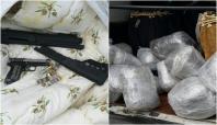 Diyarbakır'da uyuşturucu madde ve silah ele geçirildi