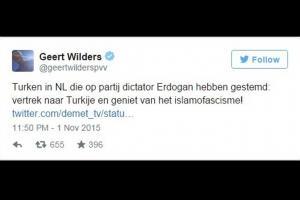 Geert Wilders AK Parti üzerinde İslam'a saldırdı