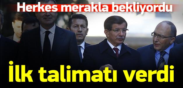 Davutoğlu talimat verdi: 100 günlük eylem planı hazırlayın