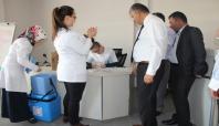Siirt'te sağlık personellerine grip aşısı yapıldı