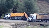 Batman'da iki kamyon çarpıştı:1 yaralı