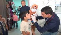 Viranşehir çadır kentte sağlık hizmeti