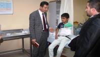 Midyat'ta öğrenci servisi devrildi: 13 Yaralı