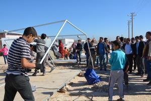 Viranşehir'de çadırlar yenileniyor