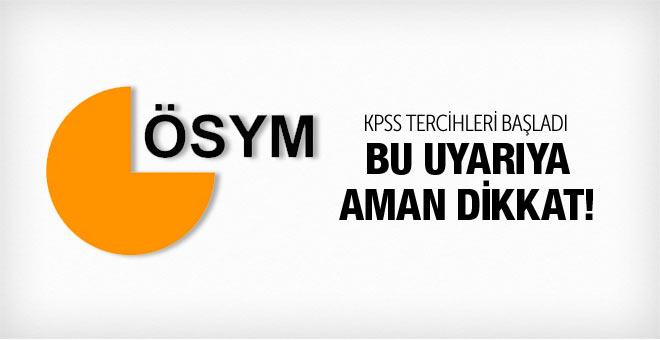 KPSS 2015 tercih başvuruları başladı