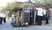 Diyarbakır'da zırhlı araç devrildi