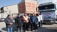 Ağrı İHH 'dan, Suriye'ye bir TIR dolusu un yardımı