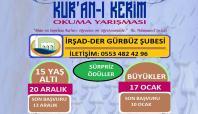Gürbüz İrşad-Der'den Kur'an'ı güzel okuma yarışması