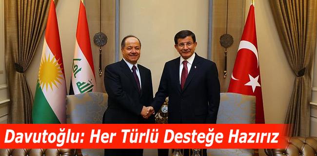 Başbakan: Her türlü desteği Irak Kürdistan bölgesine vereceğiz