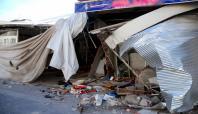 PKK'nin fırlattığı roket 3 iş yerini tahrip etti